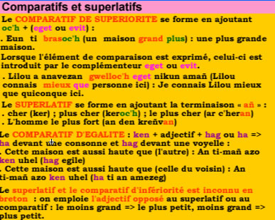 Comparatif et superlatif en breton